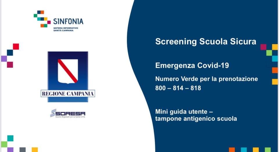 Modulo per screening scuola sicura